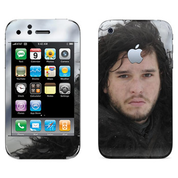 Виниловая наклейка «Джон Сноу в Ночном дозоре» на телефон Apple iPhone 3GS