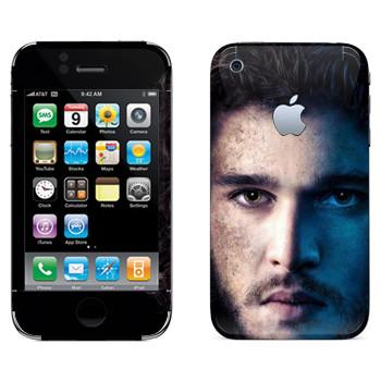 Виниловая наклейка «Джон Сноу» на телефон Apple iPhone 3GS