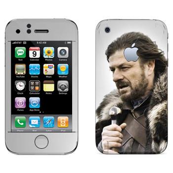 Виниловая наклейка «Эддард Старк» на телефон Apple iPhone 3GS