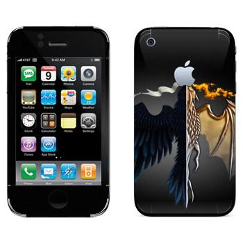 Виниловая наклейка «Игра престолов logo» на телефон Apple iPhone 3GS