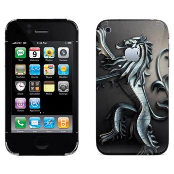Виниловая наклейка «Игра престолов логотип» на телефон Apple iPhone 3GS