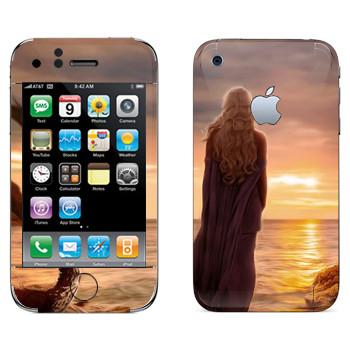 Виниловая наклейка «Королева Дейенерис» на телефон Apple iPhone 3GS