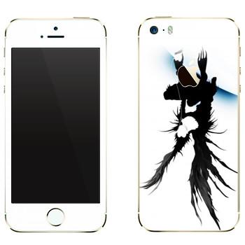 Виниловая наклейка «Death Note - Ужас» на телефон Apple iPhone 5