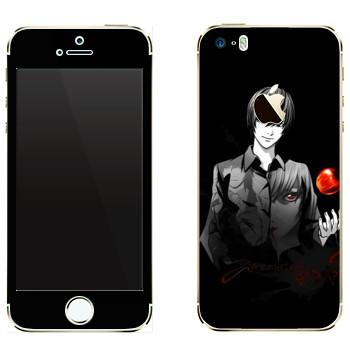 Виниловая наклейка «Death Note пацан с яблоком» на телефон Apple iPhone 5