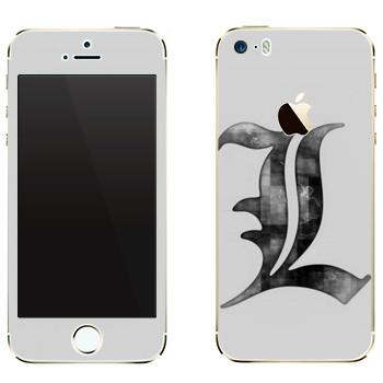 Виниловая наклейка «Death Note серый» на телефон Apple iPhone 5
