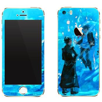 Виниловая наклейка «Синий экзорцист» на телефон Apple iPhone 5