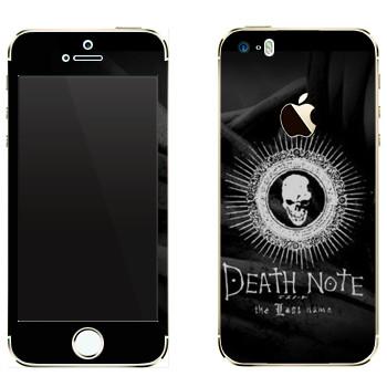 Виниловая наклейка «Тетрадь смерти  - Лого» на телефон Apple iPhone 5