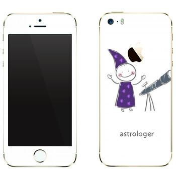 Виниловая наклейка «Маленький астролог» на телефон Apple iPhone 5