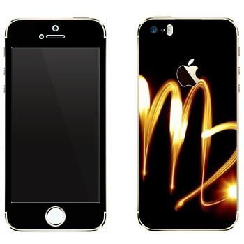Виниловая наклейка «Знак Дева» на телефон Apple iPhone 5