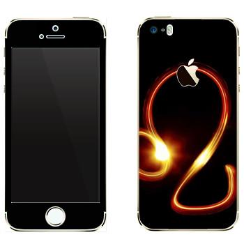 Виниловая наклейка «Знак Лев» на телефон Apple iPhone 5
