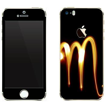 Виниловая наклейка «Знак Скорпион» на телефон Apple iPhone 5