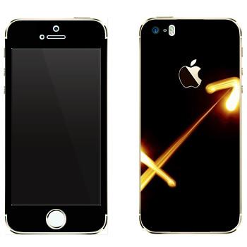 Виниловая наклейка «Знак Стрелец» на телефон Apple iPhone 5