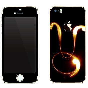 Виниловая наклейка «Знак Телец» на телефон Apple iPhone 5
