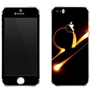 Виниловая наклейка «Знак Весы» на телефон Apple iPhone 5