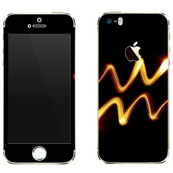 Виниловая наклейка «Знак Водолей» на телефон Apple iPhone 5