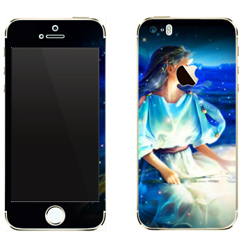 Виниловая наклейка «Знак зодиака Дева» на телефон Apple iPhone 5