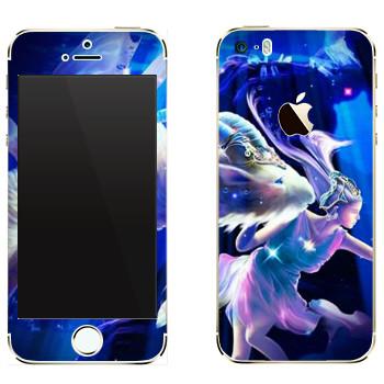 Виниловая наклейка «Знак зодиака Козерог» на телефон Apple iPhone 5