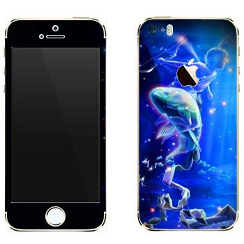 Виниловая наклейка «Знак зодиака Рыбы» на телефон Apple iPhone 5