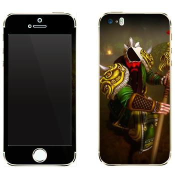 Виниловая наклейка «Ao Kuang : Smite Gods» на телефон Apple iPhone 5