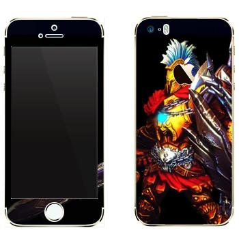 Виниловая наклейка «Ares : Smite Gods» на телефон Apple iPhone 5
