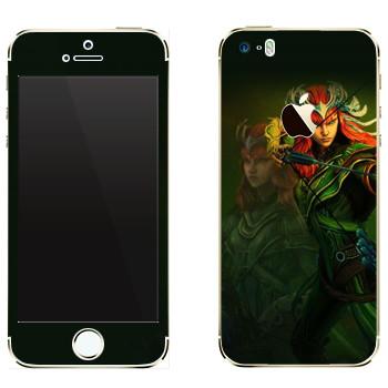 Виниловая наклейка «Artemis : Smite Gods» на телефон Apple iPhone 5