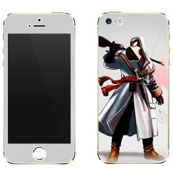 Виниловая наклейка «Assassins creed по-русски» на телефон Apple iPhone 5