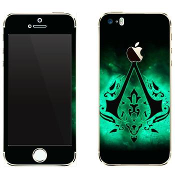 Виниловая наклейка «Assassins лого» на телефон Apple iPhone 5