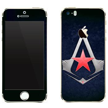 Виниловая наклейка «Assassins звезда» на телефон Apple iPhone 5