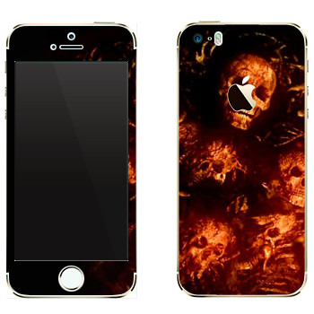 Виниловая наклейка «Dark Souls кости» на телефон Apple iPhone 5
