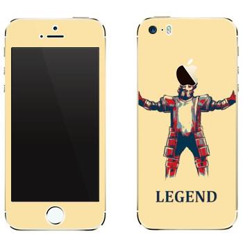 Виниловая наклейка «Dark Souls легенда» на телефон Apple iPhone 5