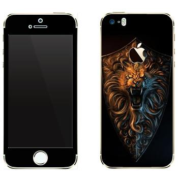 Виниловая наклейка «Dark Souls лев» на телефон Apple iPhone 5