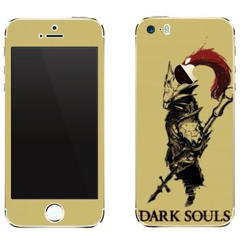 Виниловая наклейка «Dark Souls охранник» на телефон Apple iPhone 5