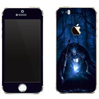 Виниловая наклейка «Dark Souls рыцарь» на телефон Apple iPhone 5