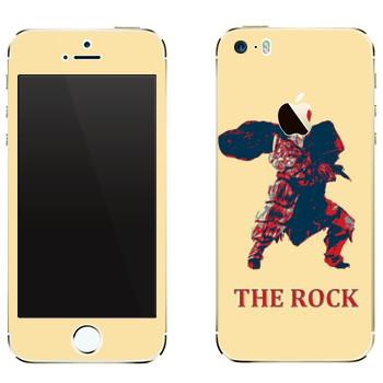 Виниловая наклейка «Dark Souls Скала» на телефон Apple iPhone 5