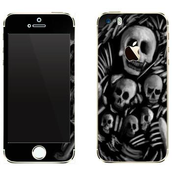Виниловая наклейка «Dark Souls скелеты» на телефон Apple iPhone 5