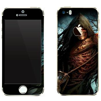 Виниловая наклейка «Dark Souls смерть» на телефон Apple iPhone 5