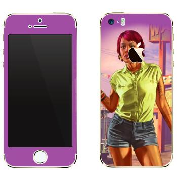 Виниловая наклейка «Девушка афро - GTA 5» на телефон Apple iPhone 5