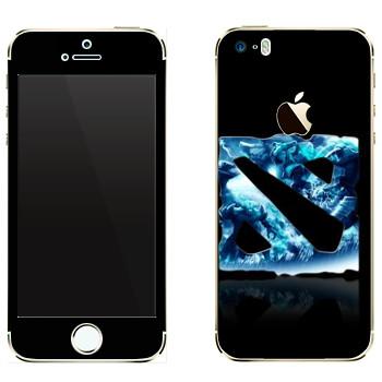 Виниловая наклейка «Dota logo blue» на телефон Apple iPhone 5