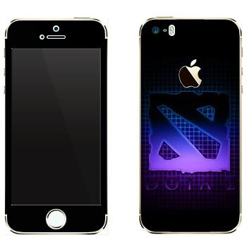 Виниловая наклейка «Dota violet logo» на телефон Apple iPhone 5
