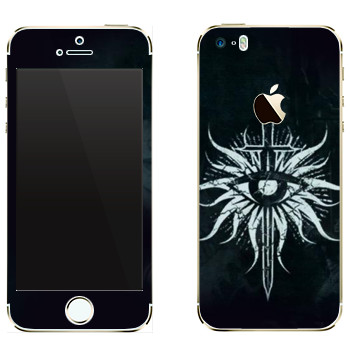 Виниловая наклейка «Dragon Age - Герб Инквизиторов» на телефон Apple iPhone 5