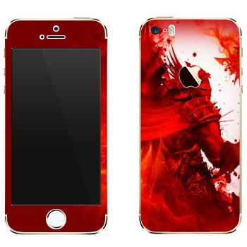 Виниловая наклейка «Dragon Age - Красный рыцарь» на телефон Apple iPhone 5