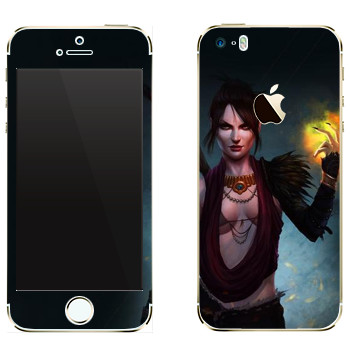 Виниловая наклейка «Dragon Age - Морриган» на телефон Apple iPhone 5