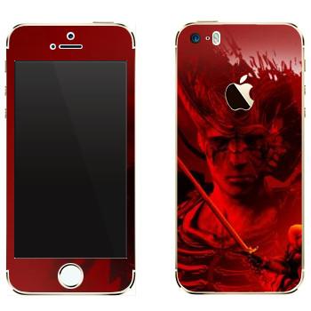 Виниловая наклейка «Dragon Age - Схватка» на телефон Apple iPhone 5