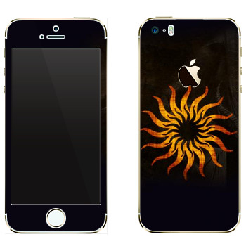 Виниловая наклейка «Dragon Age - Солнце» на телефон Apple iPhone 5
