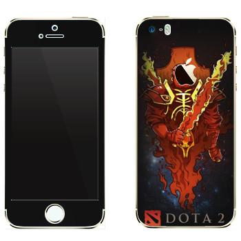 Виниловая наклейка «Драгон Кнайт» на телефон Apple iPhone 5