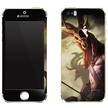 Виниловая наклейка «Drakensang deer» на телефон Apple iPhone 5