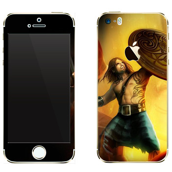 Виниловая наклейка «Drakensang dragon warrior» на телефон Apple iPhone 5