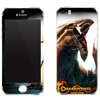 Виниловая наклейка «Drakensang dragon» на телефон Apple iPhone 5
