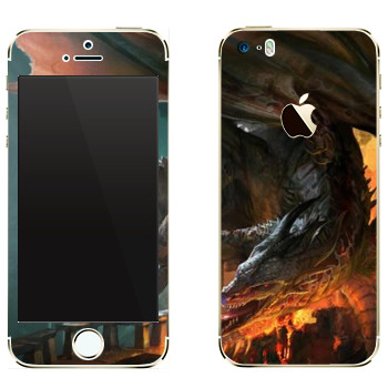 Виниловая наклейка «Drakensang fire» на телефон Apple iPhone 5