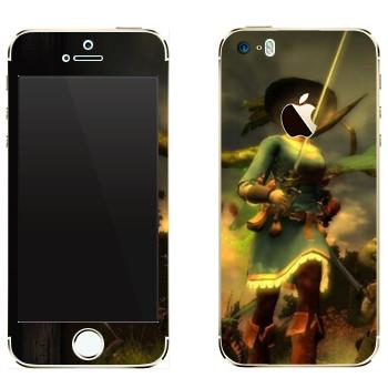 Виниловая наклейка «Drakensang Girl» на телефон Apple iPhone 5